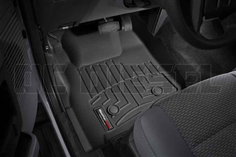 WeatherTech 443051 Black Front FloorLiner for 2011-2012 Ford 6.7L Powerstroke