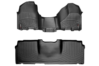 WeatherTech 443281-440123 Black FloorLiner Set for 2010-2012 Dodge 6.7LCummins