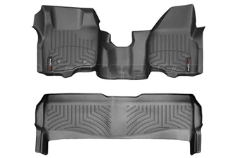 WeatherTech 443291-443052 Black FloorLiner Set for 2011-2012 Ford 6.7L Powerstroke