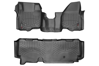 WeatherTech 443291-443053 Black FloorLiner Set for 2011-2012 Ford 6.7L Powerstroke