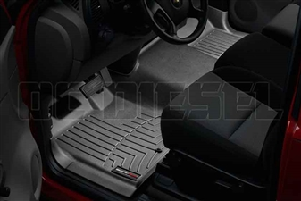 WeatherTech 443711 Black Front FloorLiner for 2007-2014 GM 6.6L Duramax LMM, LML