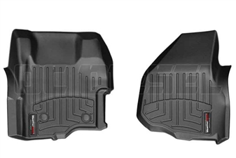 WeatherTech 444261 Black Front FloorLiner for 2011-2012 Ford 6.7L Powerstroke