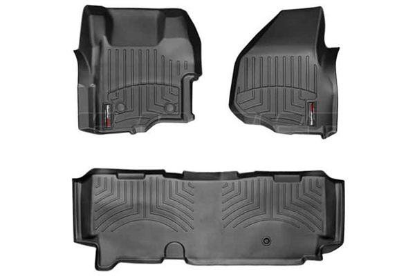WeatherTech 444261-443053 Black FloorLiner Set for 2011-2012 Ford 6.7L Powerstroke
