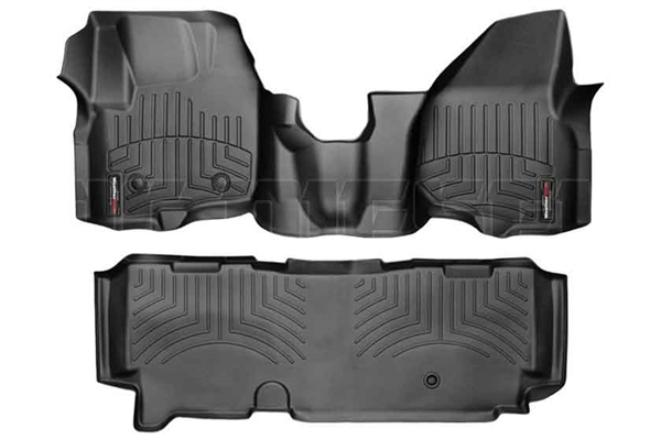 WeatherTech 444341-443053 Black FloorLiner Set for 2012-2016 Ford 6.7L Powerstroke