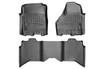 WeatherTech 444781-442163 Black FloorLiner Set for 2012-2017 Dodge 6.7L Cummins