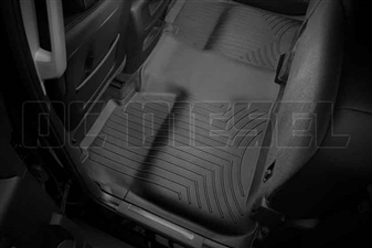 WeatherTech 445422 Black Rear FloorLiner for 2014-2017 GM 6.6L Duramax LML, LP5