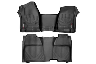 WeatherTech 445431-445422 Black FloorLiner Set for 2014-2017 GM 6.6L Duramax LML, LP5