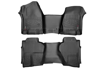 WeatherTech 445431-445423 Black FloorLiner Set for 2014-2017 GM 6.6L Duramax LML, LP5