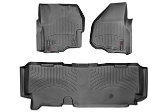 WeatherTech 445841-443053 Black FloorLiner Set for 2012-2016 Ford 6.7L Powerstroke