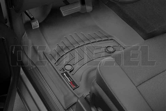 WeatherTech 446071 Black Front FloorLiner for 2014-2017 GM 6.6L Duramax LML, LP5