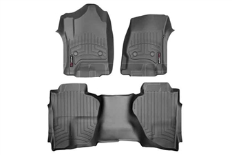 WeatherTech 446071-445423 Black FloorLiner Set for 2014-2017 GM 6.6L Duramax LML, LP5
