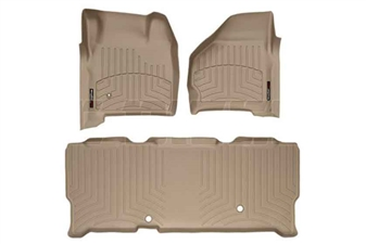 WeatherTech 45002-1-3 Tan FloorLiner Set for 1999-2007 Ford 7.3L, 6.0L Powerstroke