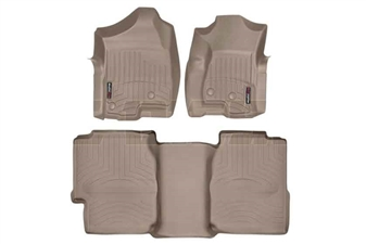 WeatherTech 450031-450622 Tan FloorLiner Set for 2001-2007 GM 6.6L Duramax LB7, LLY, LBZ