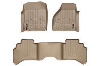 WeatherTech 45004-1-2 Tan FloorLiner Set for 2003-2009 Dodge 5.9L, 6.7L Cummins