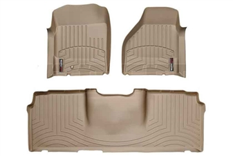 WeatherTech 450041-450123 Tan FloorLiner Set for 2006-2009 Dodge 5.9L, 6.7L Cummins