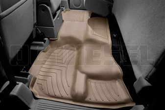 WeatherTech 450669 Tan Rear FloorLiner for 2007-2013 GM 6.6L Duramax LMM, LML