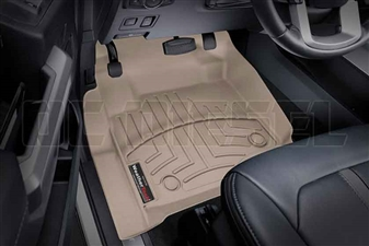 WeatherTech 4510121 Tan Front FloorLiner for 2017 Ford 6.7L Powerstroke