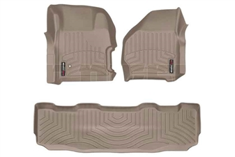 WeatherTech 451251-450022 Tan FloorLiner Set for 1999-2007 Ford 7.3L, 6.0L Powerstroke