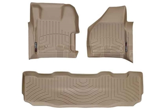 WeatherTech 451261-450022 Tan FloorLiner Set for 2008-2010 Ford 6.4L Powerstroke