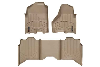 WeatherTech 45216-1-3 Tan FloorLiner Set for 2010-2012 Dodge 6.7LCummins