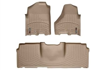 WeatherTech 452161-450123 Tan FloorLiner Set for 2010-2012 Dodge 6.7LCummins