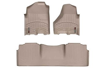 WeatherTech 452161-454772 Tan FloorLiner Set for 2010-2012 Dodge 6.7LCummins