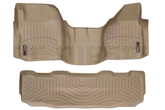 WeatherTech 452931-450022 Tan FloorLiner Set for 2008-2010 Ford 6.4L Powerstroke