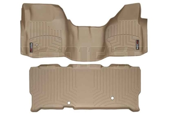 WeatherTech 452931-450023 Tan FloorLiner Set for 2008-2010 Ford 6.4L Powerstroke