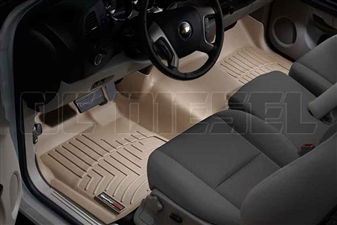 WeatherTech 452941 Tan Front FloorLiner for 2007-2014 GM 6.6L Duramax LMM, LML
