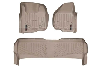 WeatherTech 45305-1-2 Tan FloorLiner Set for 2011-2012 Ford 6.7L Powerstroke