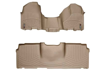 WeatherTech 453281-450123 Tan FloorLiner Set for 2010-2012 Dodge 6.7LCummins