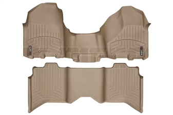 WeatherTech 453281-452163 Tan FloorLiner Set for 2010-2012 Dodge 6.7LCummins