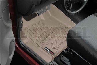 WeatherTech 453431 Tan Front FloorLiner for 2007-2014 GM 6.6L Duramax LMM, LML