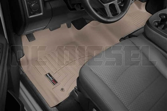 WeatherTech 454771 Tan Front FloorLiner for 2012-2017 Dodge 6.7L Cummins