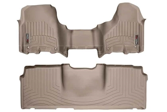 WeatherTech 454771-450123 Tan FloorLiner Set for 2012-2017 Dodge 6.7L Cummins