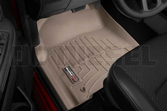 WeatherTech 454781 Tan Front FloorLiner for 2012-2017 Dodge 6.7L Cummins