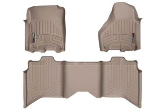 WeatherTech 454781-452163 Tan FloorLiner Set for 2012-2017 Dodge 6.7L Cummins