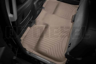WeatherTech 455422 Tan Rear FloorLiner for 2014-2017 GM 6.6L Duramax LML, LP5