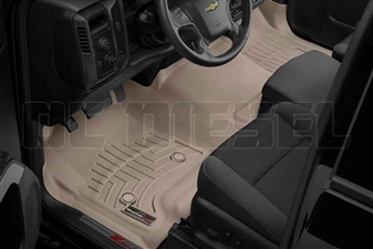WeatherTech 455431 Tan Front FloorLiner for 2014-2017 GM 6.6L Duramax LML, LP5