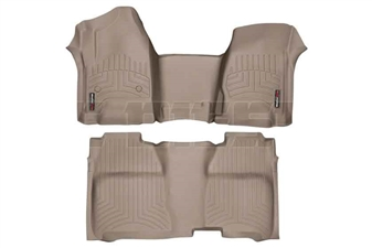 WeatherTech 455431-455422 Tan FloorLiner Set for 2014-2017 GM 6.6L Duramax LML, LP5