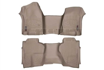 WeatherTech 455431-455423 Tan FloorLiner Set for 2014-2017 GM 6.6L Duramax LML, LP5
