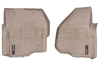 WeatherTech 455841 Tan Front FloorLiner for 2012-2016 Ford 6.7L Powerstroke