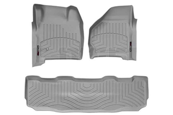 WeatherTech 46002-1-2 Grey FloorLiner Set for 1999-2007 Ford 7.3L, 6.0L Powerstroke