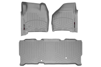 WeatherTech 46002-1-3 Grey FloorLiner Set for 1999-2007 Ford 7.3L, 6.0L Powerstroke