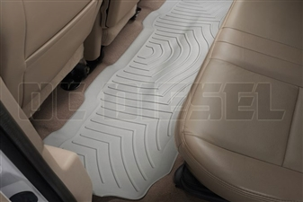 WeatherTech 460022 Grey Rear FloorLiner for 1999-2010 Ford 7.3L, 6.0L, 6.4L Powerstroke