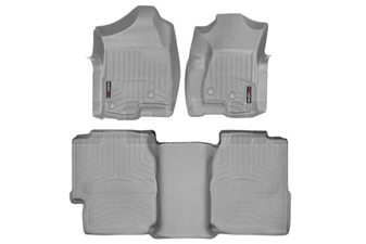 WeatherTech 460031-460622 Grey FloorLiner Set for 2001-2007 GM 6.6L Duramax LB7, LLY, LBZ