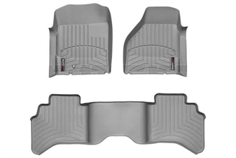 WeatherTech 46004-1-2 Grey FloorLiner Set for 2003-2009 Dodge 5.9L, 6.7L Cummins