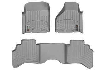 WeatherTech 460121-460042 Grey FloorLiner Set for 2003-2009 Dodge 5.9L, 6.7L Cummins