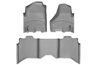 WeatherTech 46216-1-3 Grey FloorLiner Set for 2010-2012 Dodge 6.7LCummins