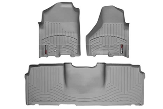 WeatherTech 462161-460123 Grey FloorLiner Set for 2010-2012 Dodge 6.7LCummins